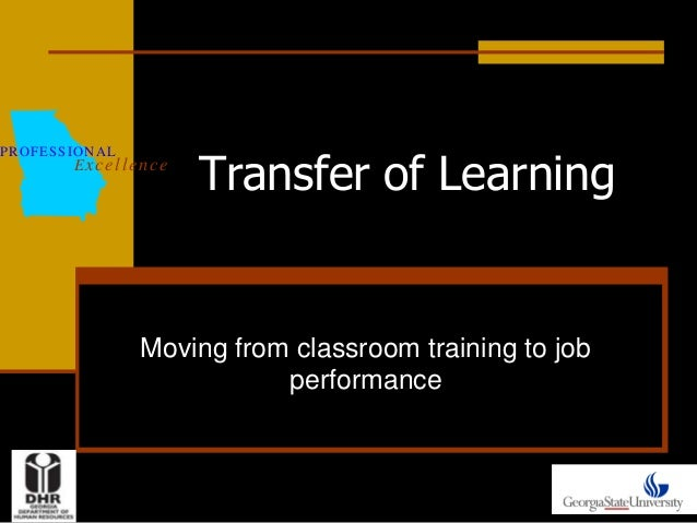 Transfer of Learning