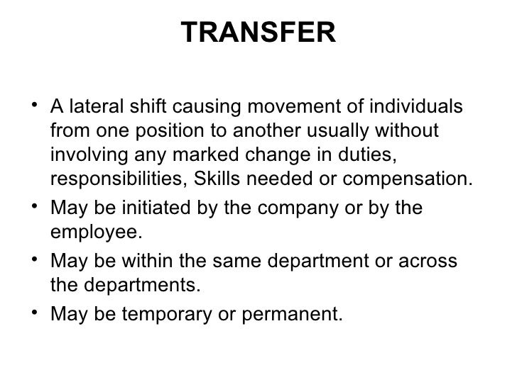 promotion demotion transfer and separation Human resources policy public records  as is the date of the most recent promotion, demotion, transfer, separation or other.