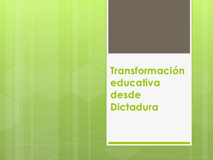 Transformación educativa (1)