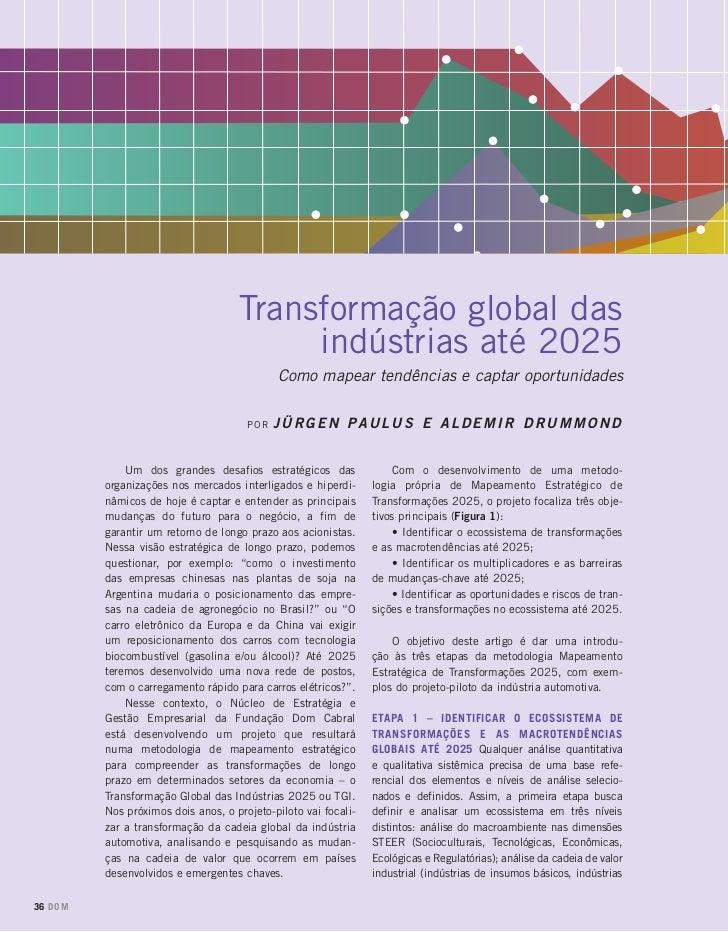 Transformação Global das Indústrias até 2025: como mapear tendências e captar oportunidades