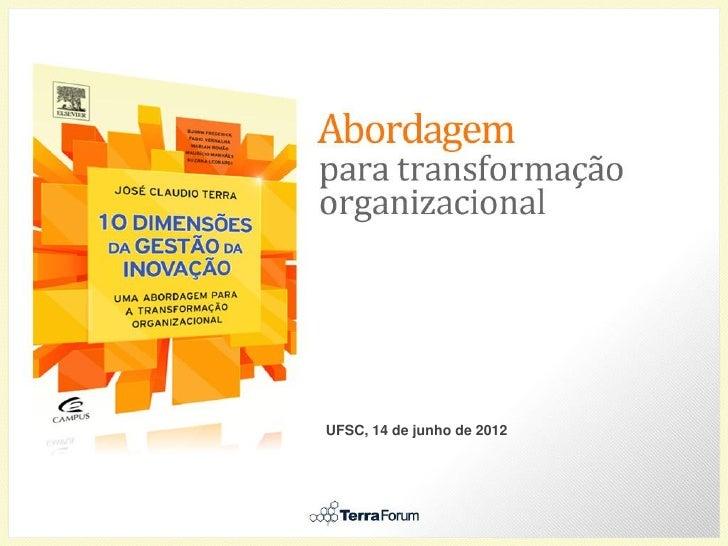 Transformação organizacional inovação   lançamento ufsc - divulgação