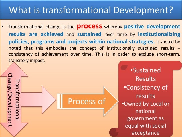 transformational change In the business world, transformational change involves a company making a radical change in its business model, often requiring changes in company structure, culture and management companies may undergo transformational change in response to crisis, or in order to reposition themselves in the market.