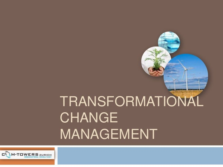 transformational change management Definition of transformational change: the abilities of its top management and especially those of its ceo can make the difference between bankruptcy and survival.