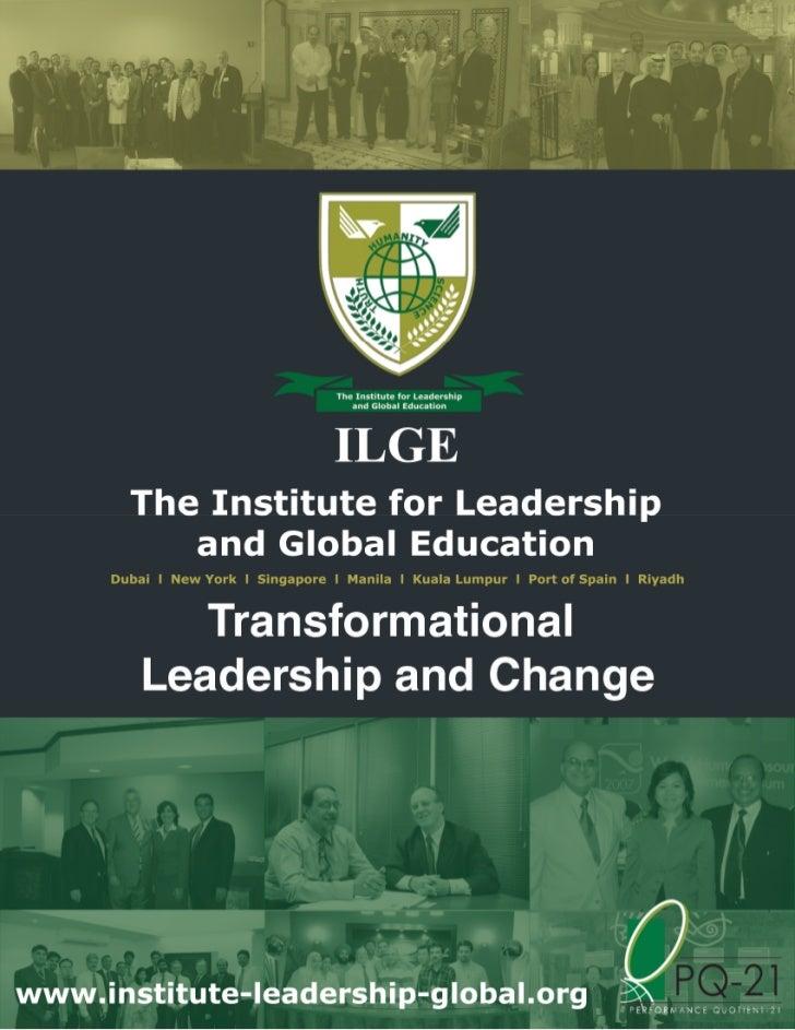 Transformational Leadership                                   and Change (LS030)                                        Se...