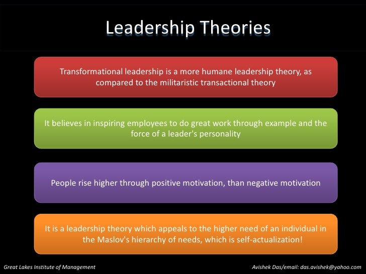Leadership Theory Essays (Examples)