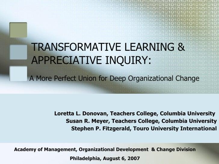 Transformative Learning & Appreciative Inquiry V2.1