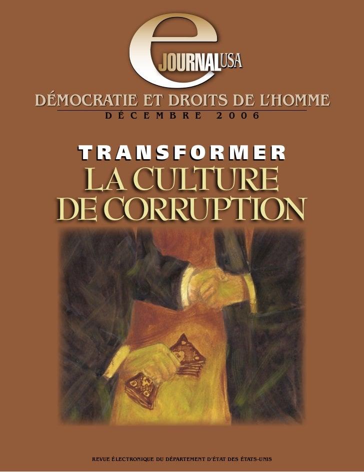 eDÉMOCRATIE ET DROITS DE L'HOMME         D É C E M B R E    TRANSFORMER                                            USA    ...