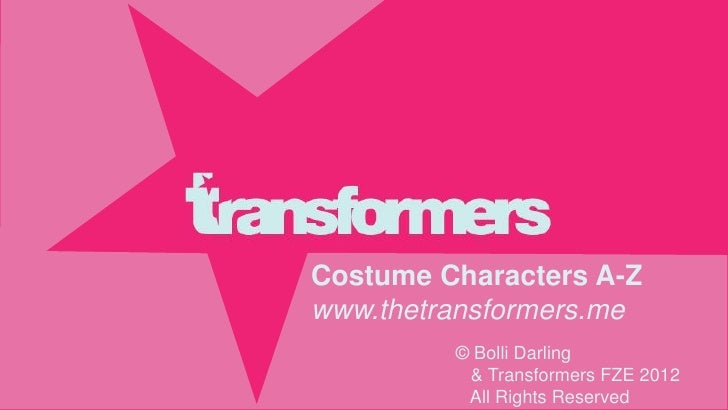 Transformers costume characters a z june 2012