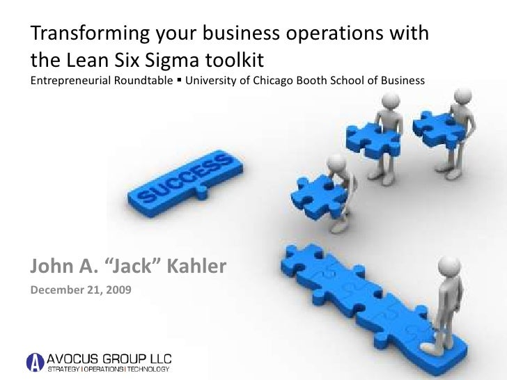 Transforming Business with Lean Six Sigma
