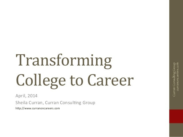 Transforming College to Career