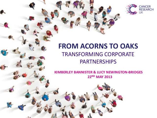 Transforming corporate partnerships