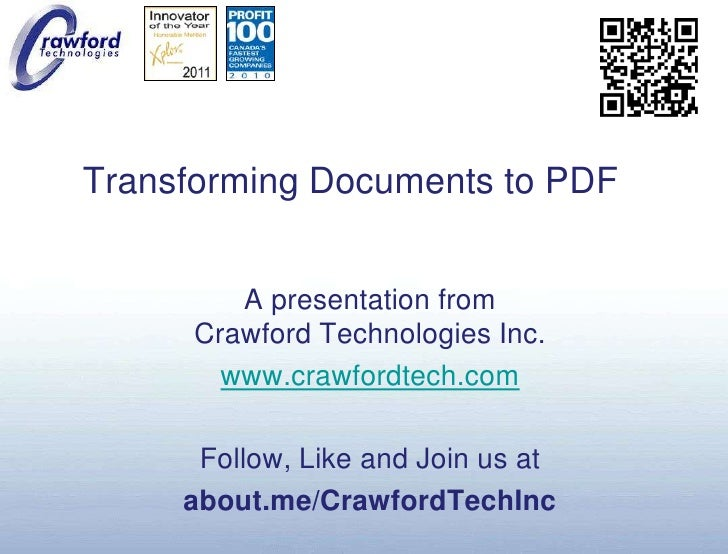 Transforming Documents to PDF