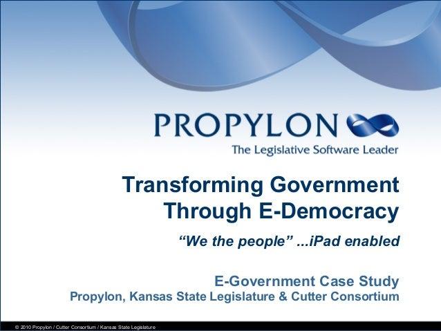 Transforming government through e-democracy