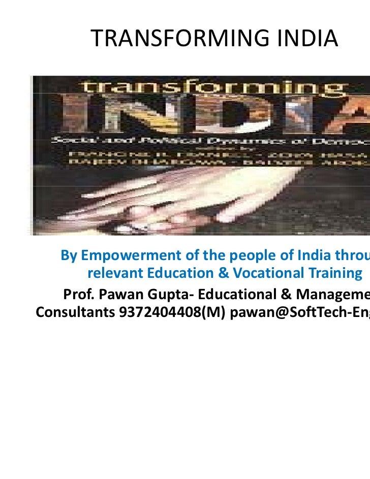 Transforming india voc edu