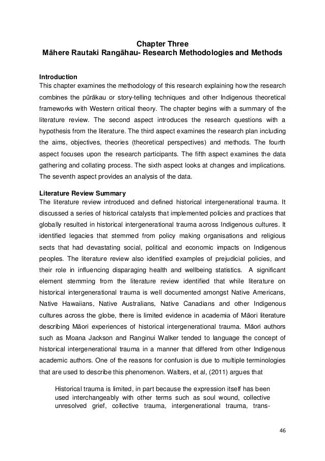writing thesis methodology chapter