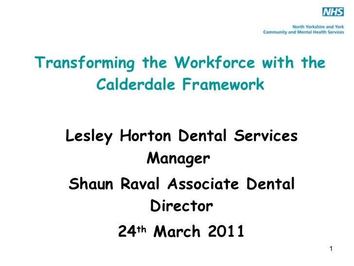 Transforming the workforce l horton