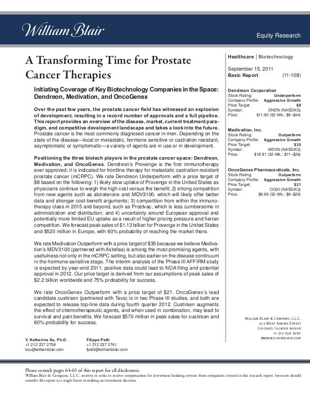 Transforming time for prostate cancer therapies
