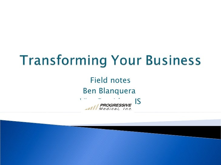 Transforming Your Business - Team