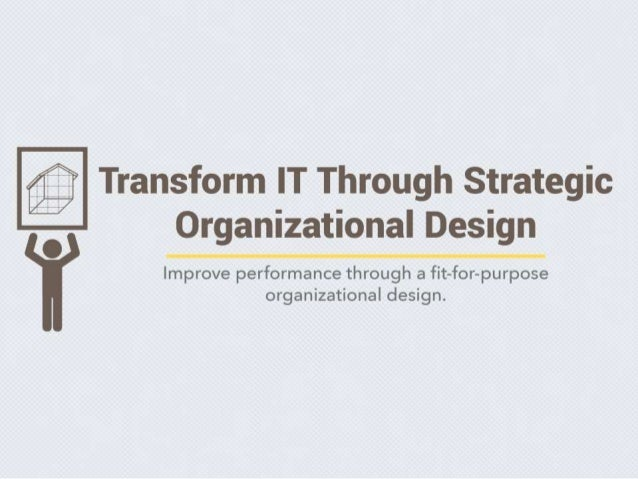strategic organizational design The lecture strategic organization design deals with how organizations  building upon the fundamentals of strategic and organizational concepts,.