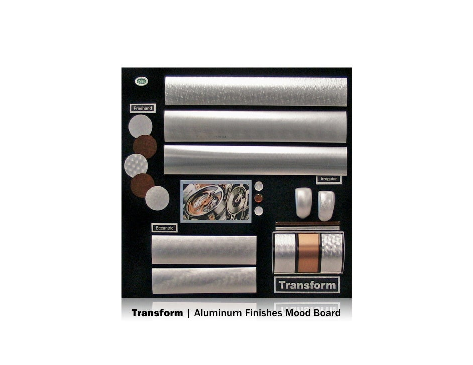 Transform | Aluminum Finishes Mood Board