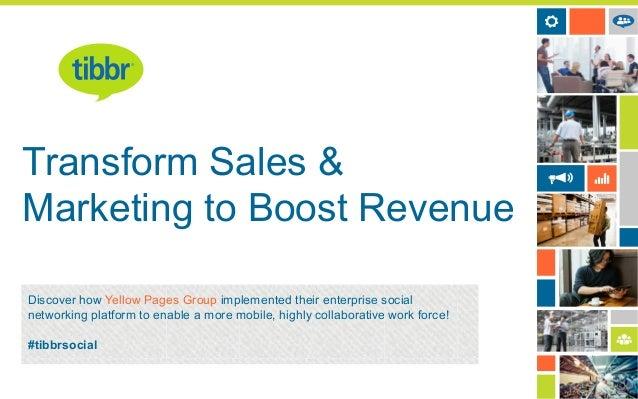 Transform Sales & Marketing with Enterprise Social