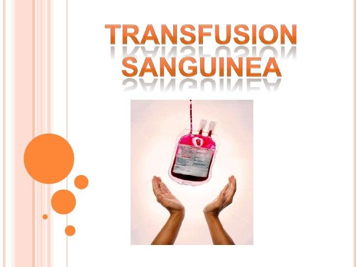TRANSFUSION <br />SANGUINEA<br />