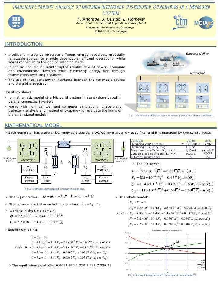 <ul><ul><li>Transient Stability Analysis of Inverter-Interfaced Distributed Generators in a Microgrid System </li></ul></u...