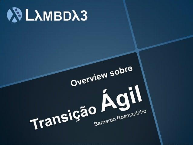 Overview sobre Transição ágil