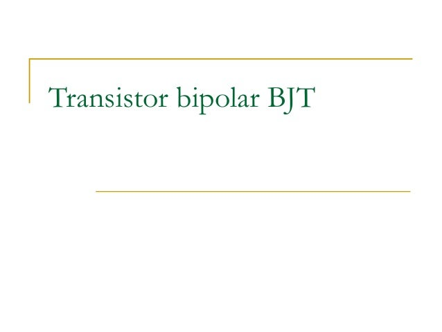 Transistor bipolar BJT