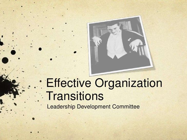 Effective Organization Transitions<br />Leadership Development Committee<br />