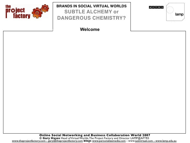 Brands in Social Virtual Worlds - Subtle Alchemy or Dangerous Chemistry?