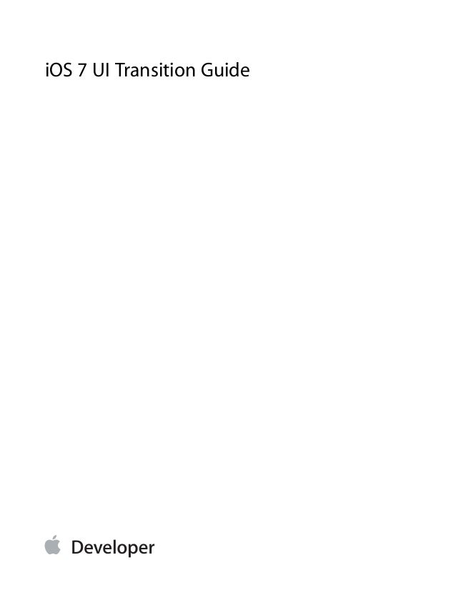 iOS 7 Transition guide