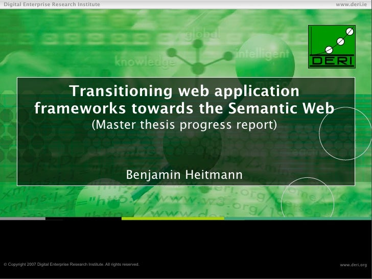 Transitioning web application frameworks towards the Semantic Web (master thesis progress report)