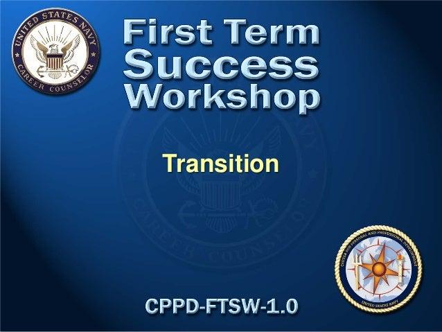 1ST TERM SUCCESS WORKSHOP TRANSITIONING