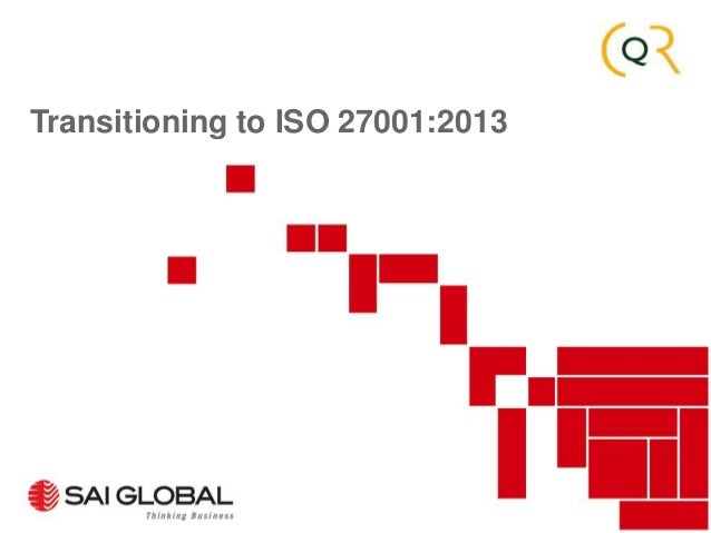 Transitioning to ISO 27001:2013