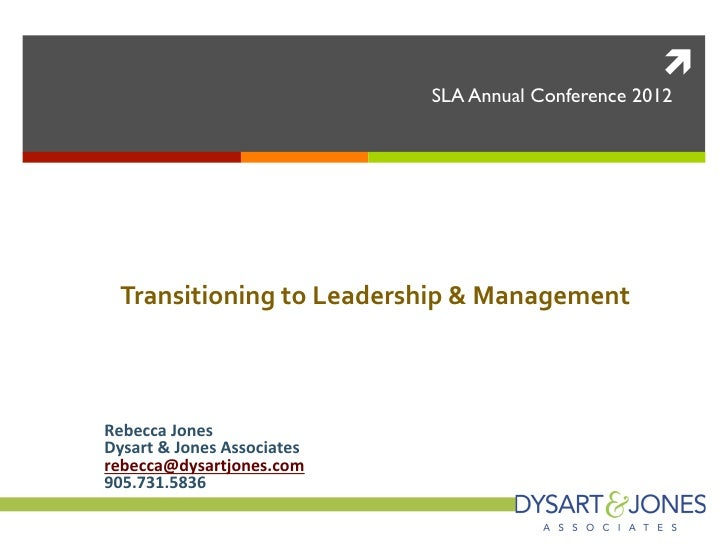 Transitioning to leadership & management roles