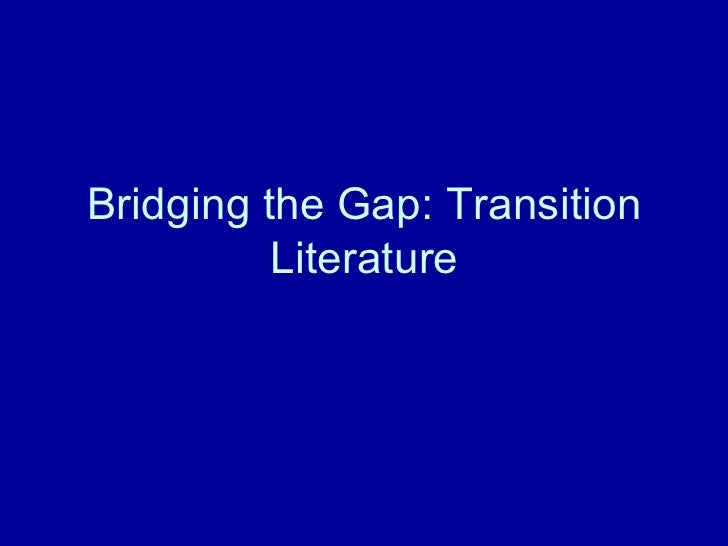 Bridging the Gap: Transition Literature