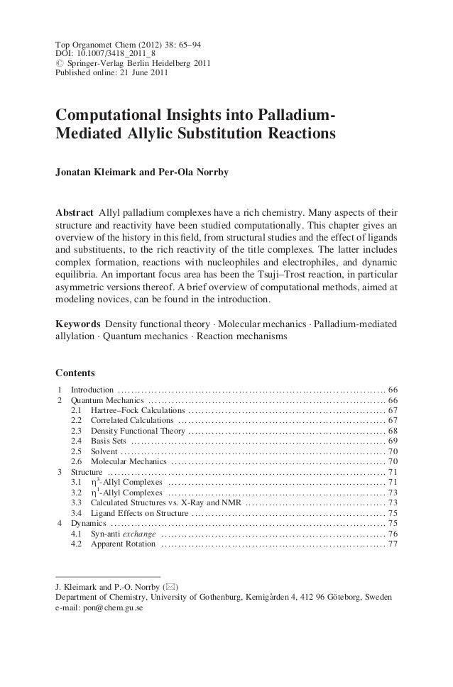 Top Organomet Chem (2012) 38: 65–94 DOI: 10.1007/3418_2011_8 # Springer-Verlag Berlin Heidelberg 2011 Published online: 21...