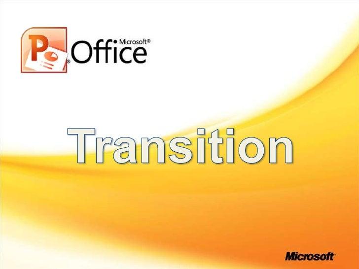 Transition<br />