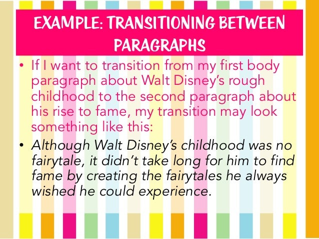 Examples Of Transition Sentences Paragraph Pictures to Pin on ...