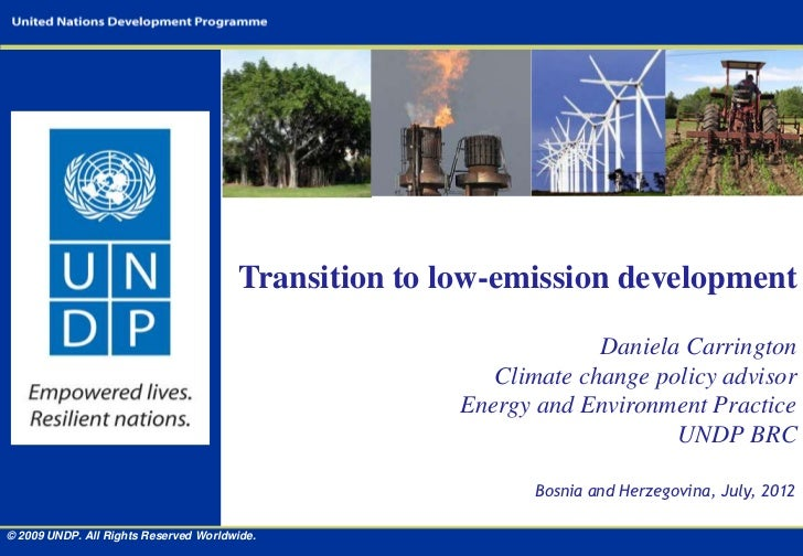 Transition to low-emission development                                                                    Daniela Carringt...