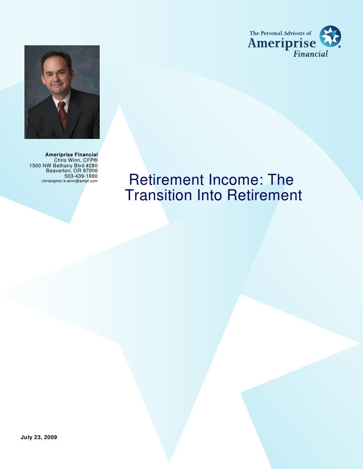 Ameriprise Financial            Chris Winn, CFP®    1500 NW Bethany Blvd #280          Beaverton, OR 97006                ...
