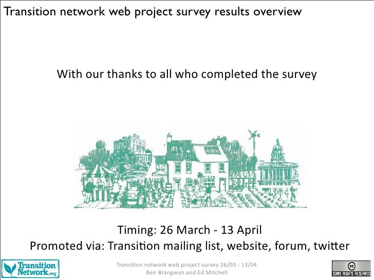Transition network web project survey results overview             With