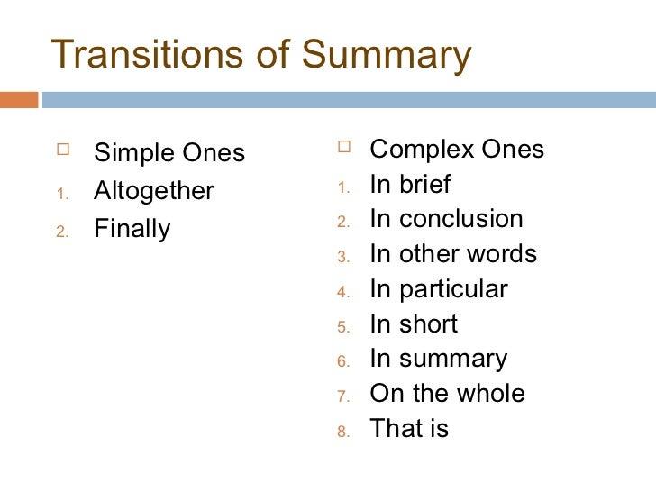 Good Essay Words