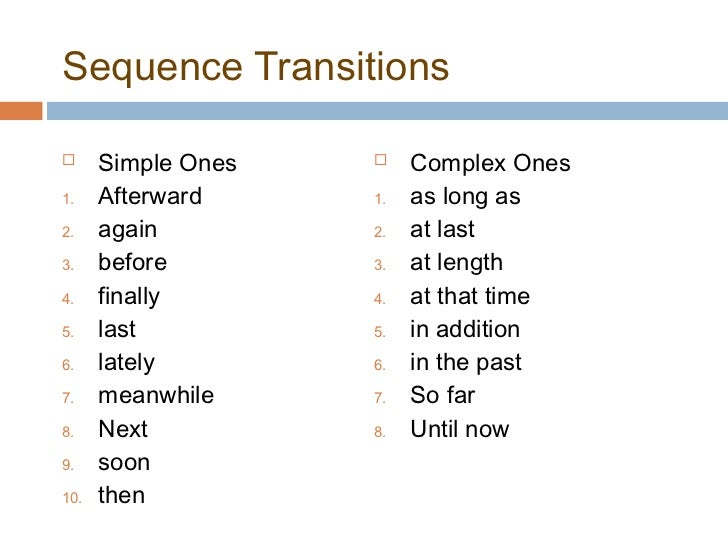 beginning transitions for essays