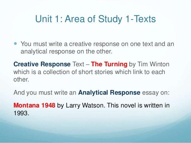 """Montana 1948"" by Larry Watson Essay Sample"