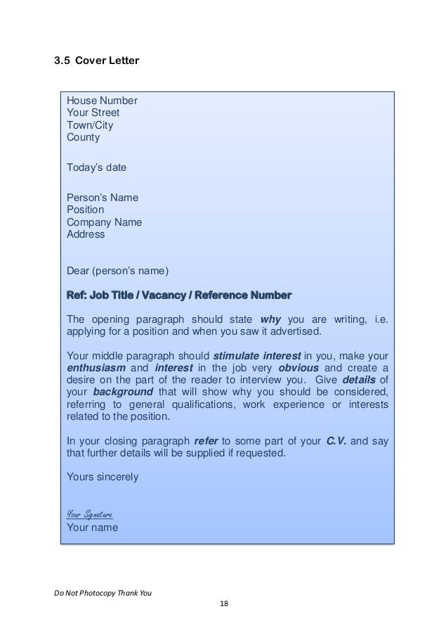Cover Letters For First Resume