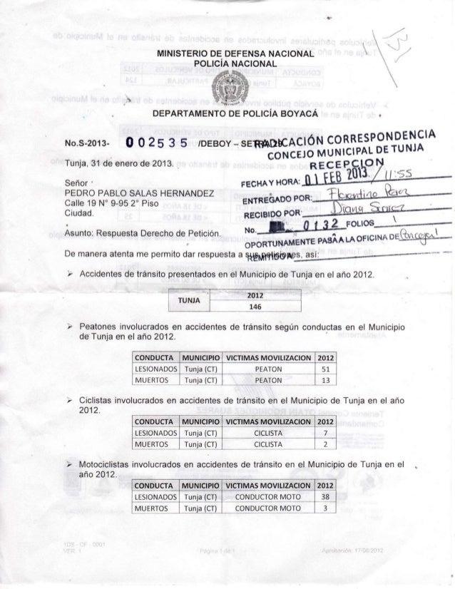 MINISTERIO DE D E F E N S A N A C I O N A L                                   POLICÍA N A C I O N A L                     ...