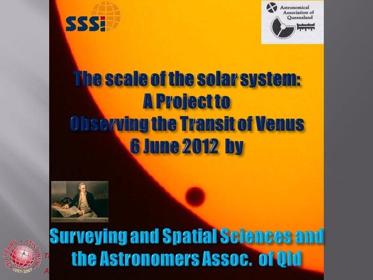 Transit of Venus Presentation