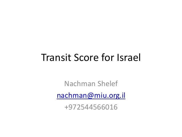Transit score for israel v1